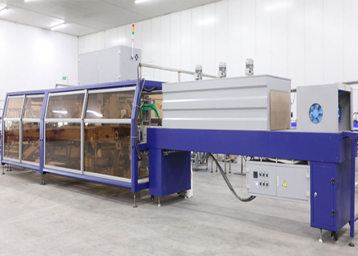 Automatic Box Shrink Packaging Equipment / Carton Box Wrapping Machine