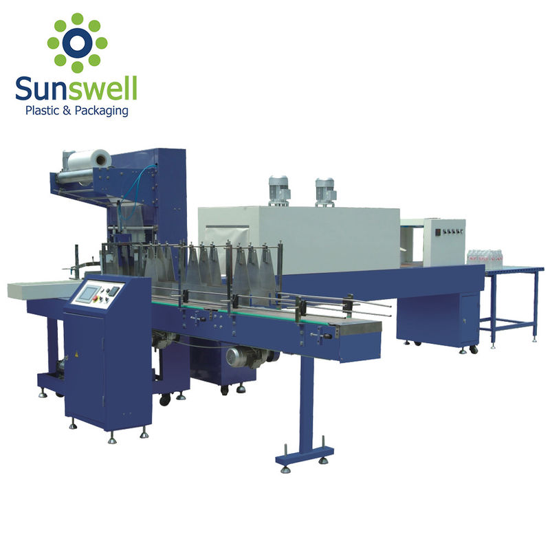 Pe Film Fully Automatic Shrink Wrapping Machine For Water Juice Carbonated Drink