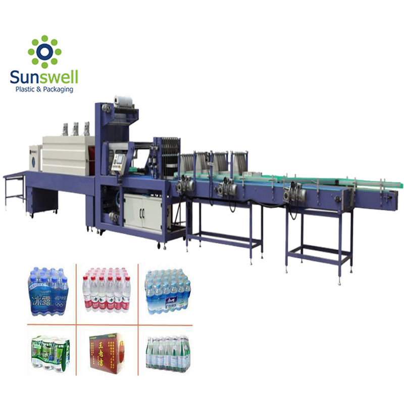 PVC PE Film 10 Packs / Min Shrink Tunnel Packing Machine